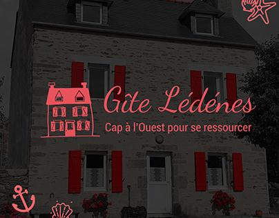 Gîte Lédénes / Web design / logo