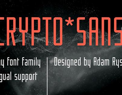 Crypto font family