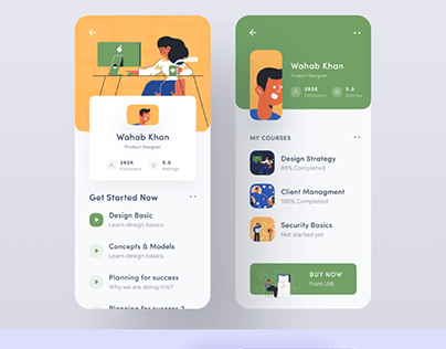 Mobile UI Design Screens