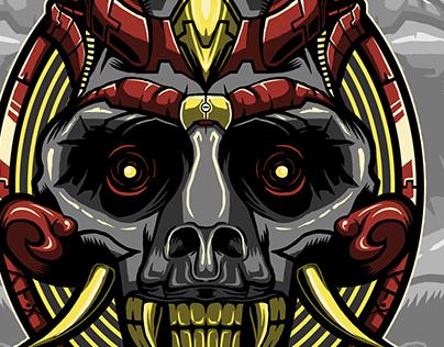 Pugna Skull Mecha Illustration