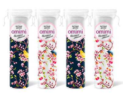 """Packaging design for """"Omimi"""" cosmetology products"""