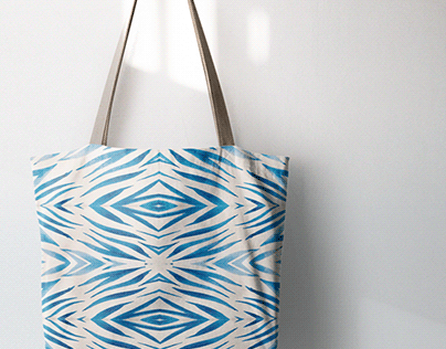 Tote bag design in ethnic style