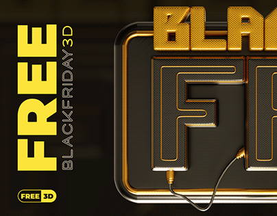 Selo 3D Black Friday • Free