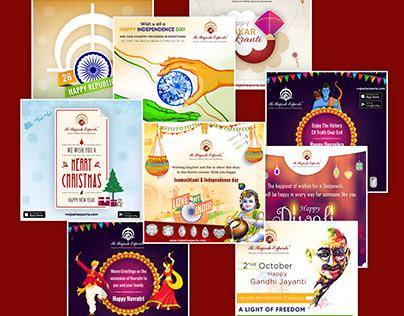 Indian Festival Banner Design 2017