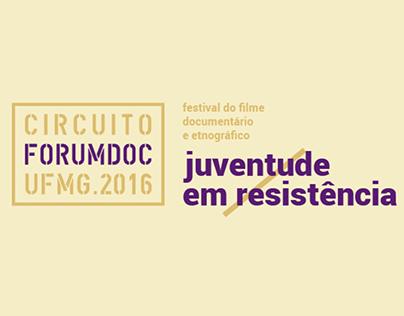 2016: Circuito forumdoc.ufmg - Juventude em Resistência