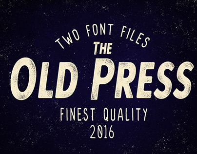 Old Press Handcrafted Typeface