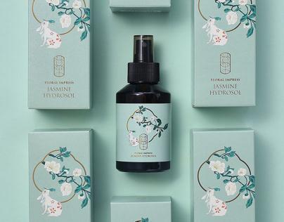 Floral Impress Toner Packaging