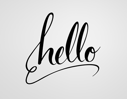 Hello - Lettering experimental
