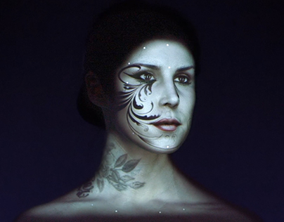 Kat Von D's Live Face Projection Mapping