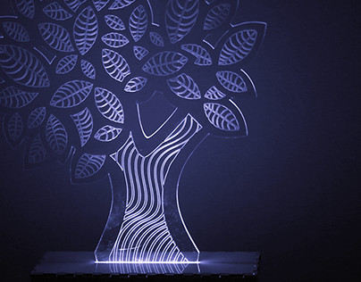 Willow - Laser cut LED tree