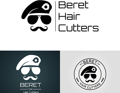 Beret Hair Cutters logo proposals