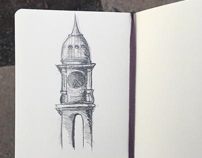 Town Clock Sketch