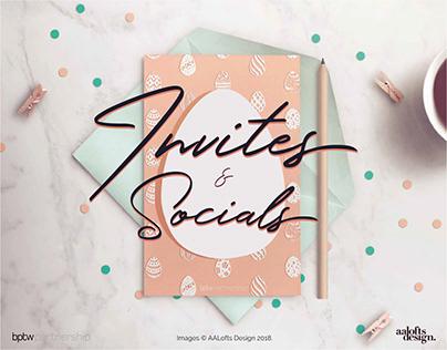 Invites & Socials   AALofts Design for bptw partnership