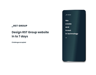 RST Group: Landing page, 7-day design sprint