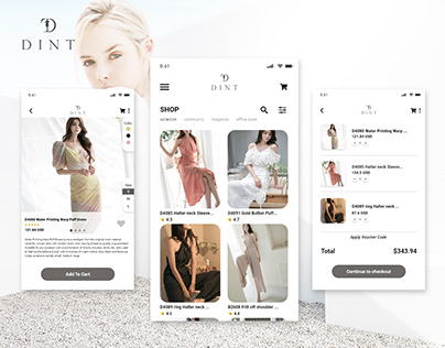 DINT - Shopping app mobile UI