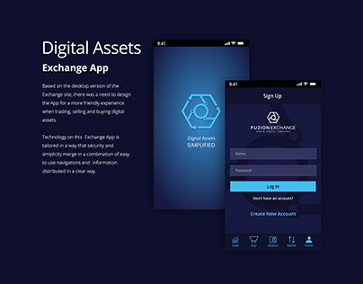 Mobile App UI - Digital Assets - FinTech Company