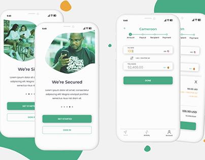 Money Transfer app - UI design