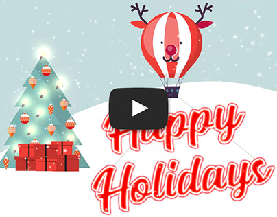 "Animated Holiday Card - ""Snow"""