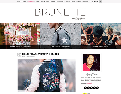 Layout - Blog Brunette