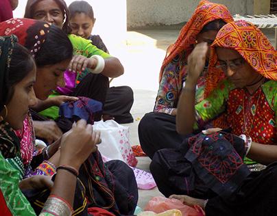 Ahir community,kutch Embroidery Design workshop