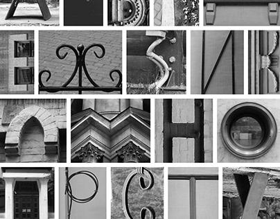 Font, type, lettering, city, pattern. Авторский шрифт
