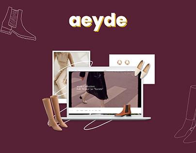aeyde Web design | E-commerce