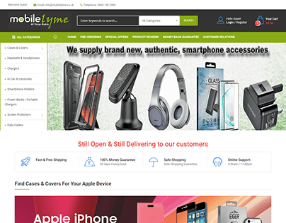 smartphone-accessories.co.uk - Mobile Lyme   Ecommerce