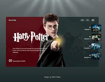 Harry Potter Homepage Design