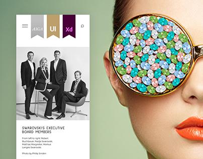 Swarovski corporate website concept