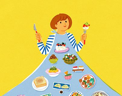 """""""Et toi, qu'est ce que tu manges?"""" illustrated cookbook"""
