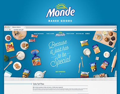 Monde Baked Goods Revamp Website