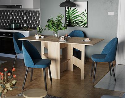 Визуализация мебели| Стол, стул