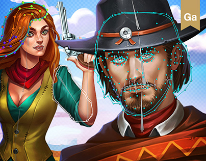 Free Westworld Slots Assets - 2D Icons, Spine, UI, Anim