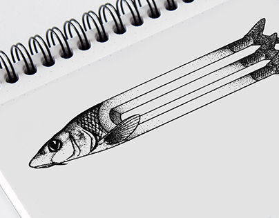 Geometric Tattoo - Fish