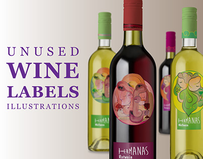 Wine Labels Illustrations
