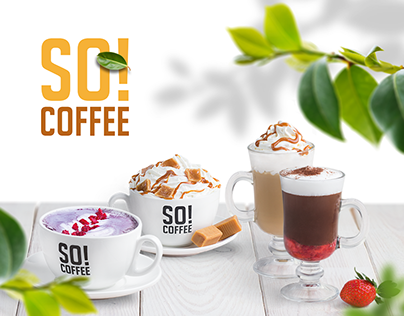 Spring creative concept for So!Coffee brand