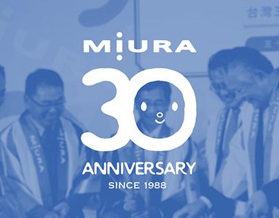 MIURA 30 Anniversary 台灣三浦三十週年社慶-主視覺及延伸
