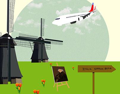 Ilustración Holanda para @psicoendiscapacidad