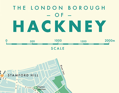 Concept design: A map of the London Borough of Hackney