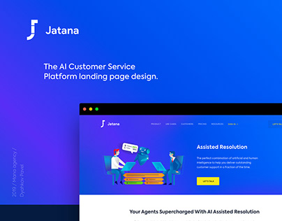Jatana.ai landing website and illustrations
