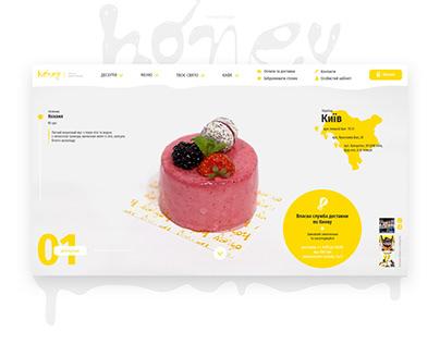 Honey, concept design of website