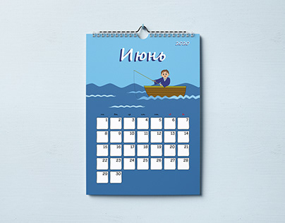 Layout of children's calendar with educational content
