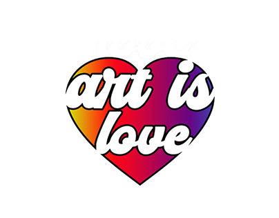 Art is Love Rainbow Heart Logo