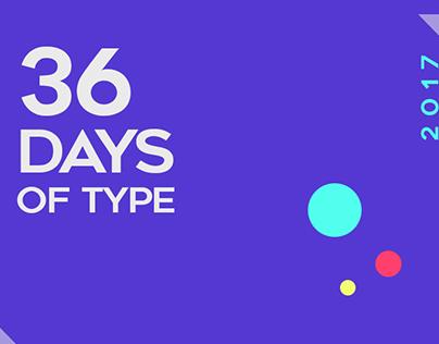36 Days of Type_2017