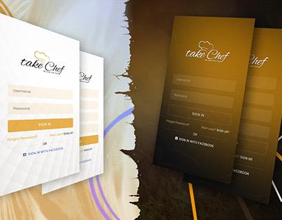 Mobile App Sign in & Sign up Screen Design