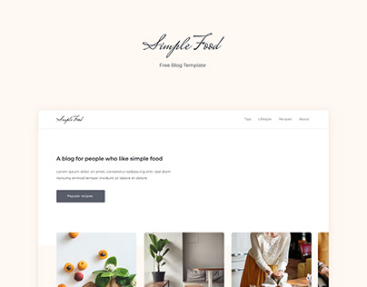 Free blog template - Simple Food