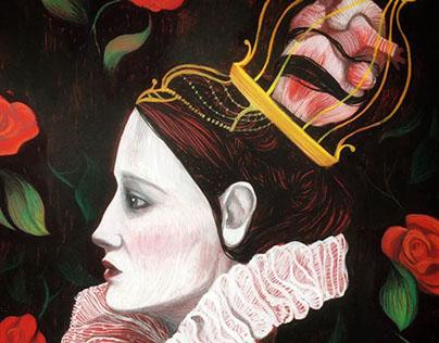 Alice in wonderland, exhibition illustrations.