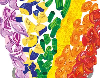 Rainbow Sambar | Children's Book Illustrations