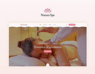 Natura Spa - UI Desgin & UX Wtiter
