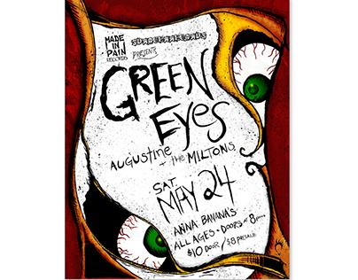 Green Eyes Concert Poster